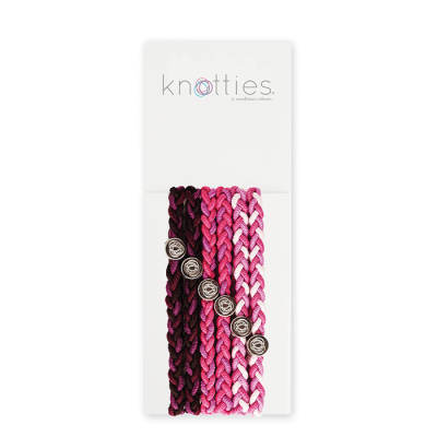 Knotties Braided Elastics Pink Sugar 6-P