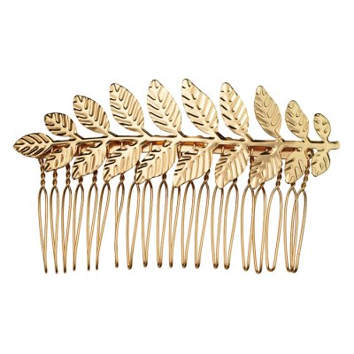Ester Gold Hairclip With Leaves