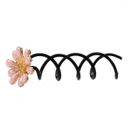 Hairspiral with Flower Pink 2 pack